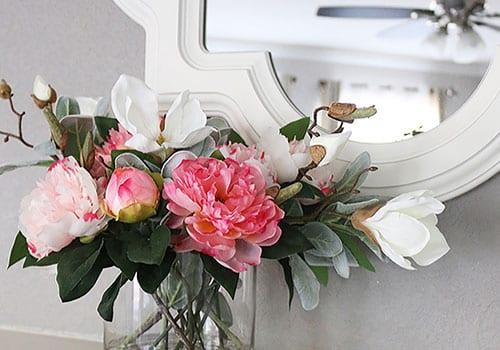 изкуствени цветя, сухи цветя