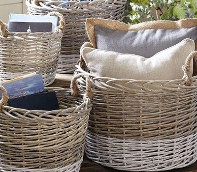 Плетени кошници и панери на ниски цени