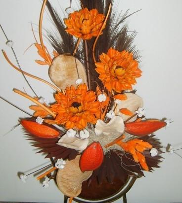 Аранжировки от сухи цветя