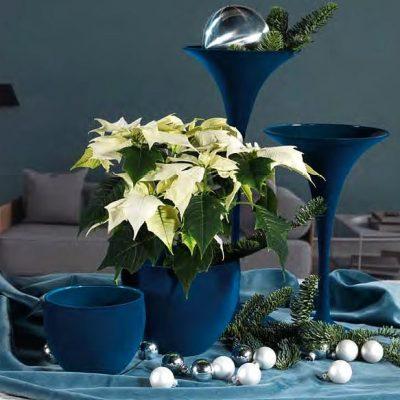 Стъклени вази с велурено покритие